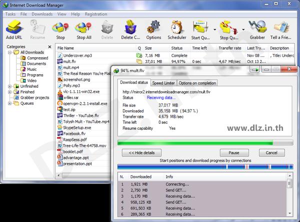 ดาวน์โหลด IDM ถาวร Full 6.27 โปรแกรม Internet Download Manager ล่าสุดฟรี