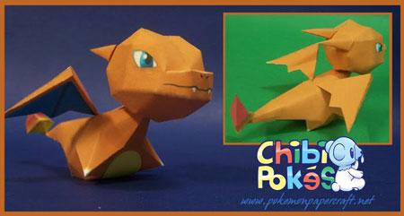 Chibi Charizard Papercraft