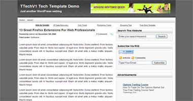 TTech v1 Technology Wordpress Themes