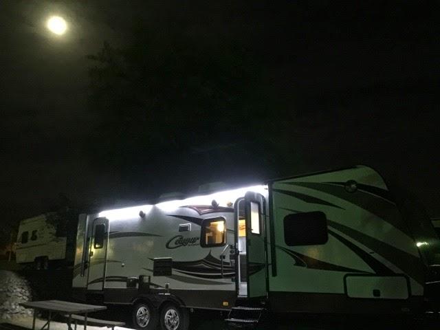 2015 Keystone Cougar LED awning lights