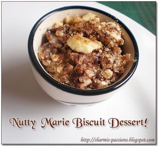 Nutty Marie Biscuit Dessert