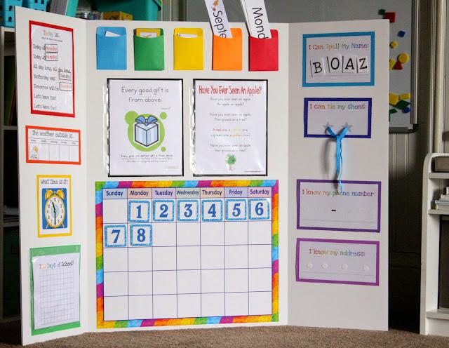 Double Time Kids Calendar : Preschool morning board delightful learning