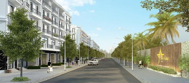 khối biệt thự dự án Sao Vàng City