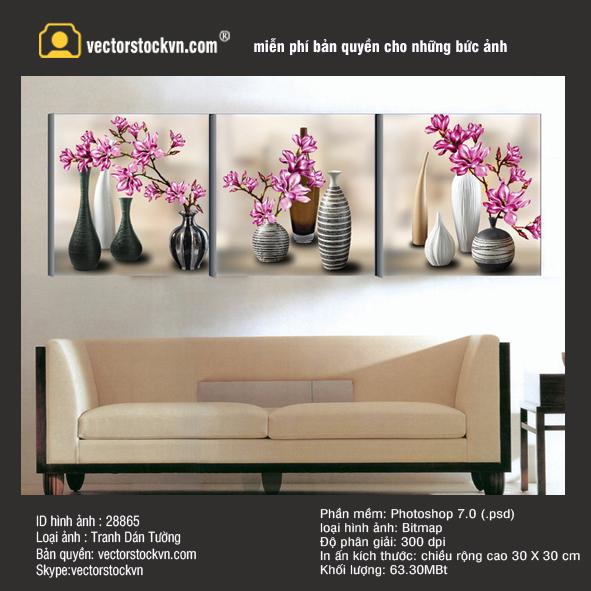Tranh Hoa Lan Trang trí phòng khách