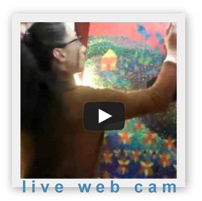 NEW! Live Web Cam in Rebecca's Art Studio