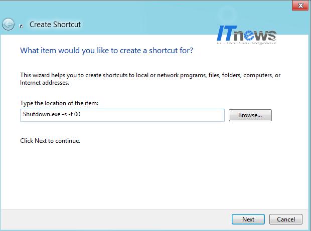 Create-shutdown-shortcut