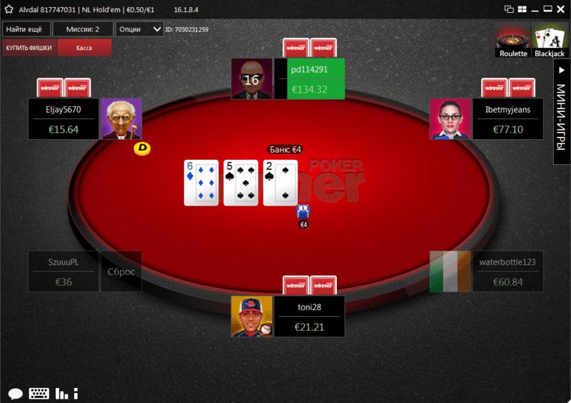 Winner Poker игровой стол