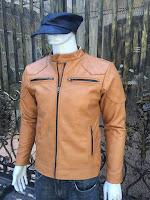 áo khoác da nam vàng bò