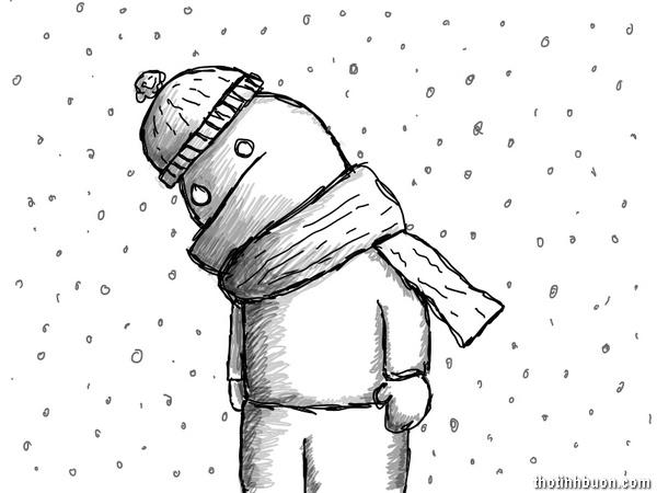 thơ tâm trạng buồn mùa đông