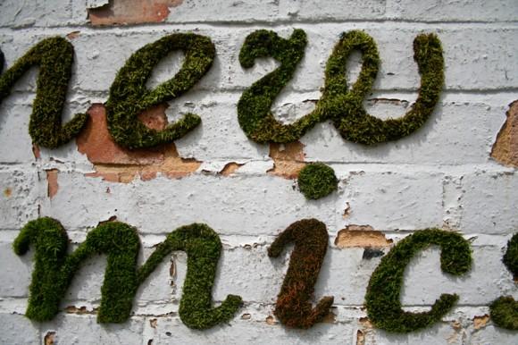 Уникални мъх графити от Ана Гарфорт