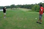 We played golf again today at Ft. Benning...There was a course on the base...Pone lost a ball here..Al was #2