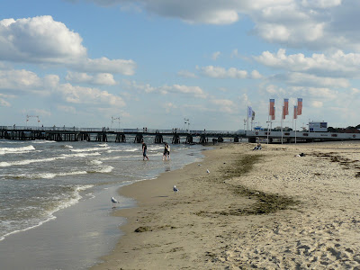 Plaża i molo w Sopocie