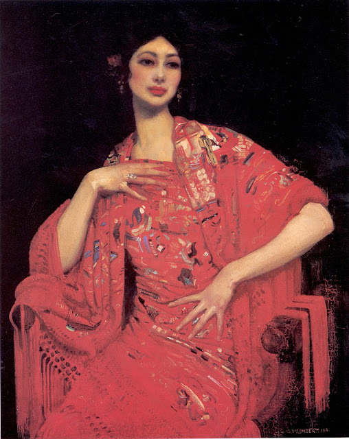 George Lambert - The Red Shawl,1913