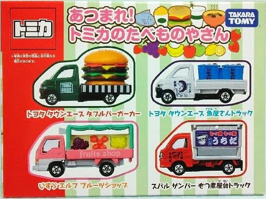 Tomica Food Shop Car Set phù hợp với các bé trai từ 3 tuổi trở lên