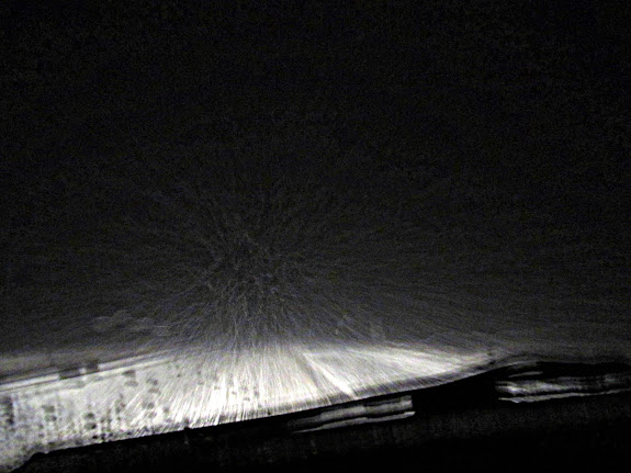 Driving home at warp speed through Salina Canyon
