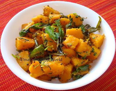 desi acorn squash bhaji