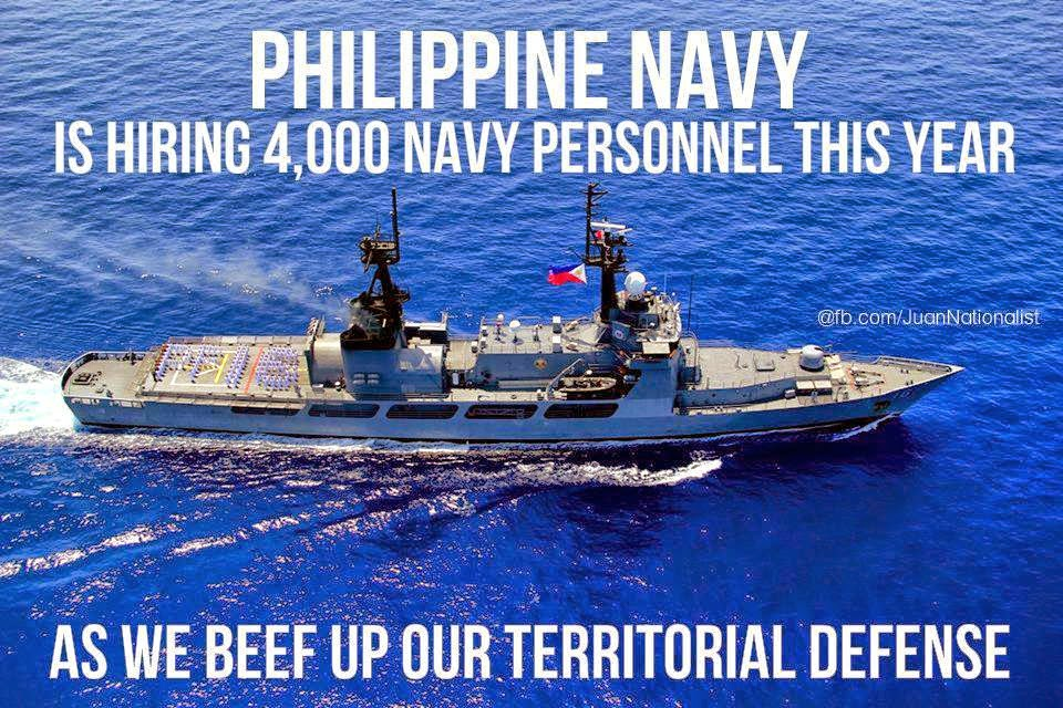 Philippine Navy Now Hiring 4,000 Navy Personnel