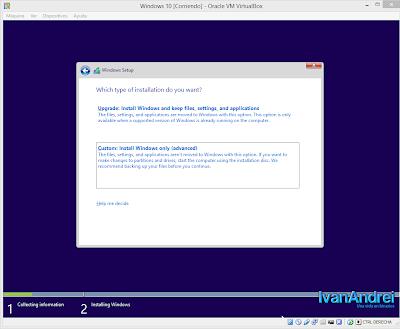 Instalación de Windows 10 - VirtualBox - Nueva instalación