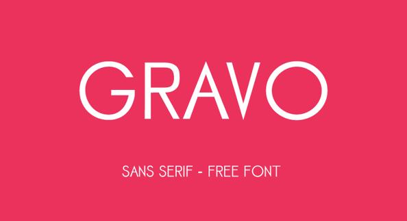 GRAVO Free Fonts