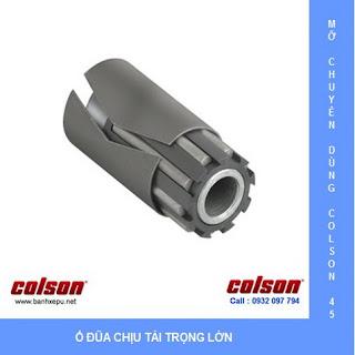 Bánh xe nhựa chịu nhiệt 110 độ C lò hấp Colson caster Mỹ | 4-5108-339 dùng ổ đũa