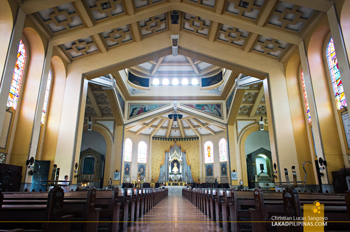 The Cavernous Hall of Sto. Domingo Church in Quezon City