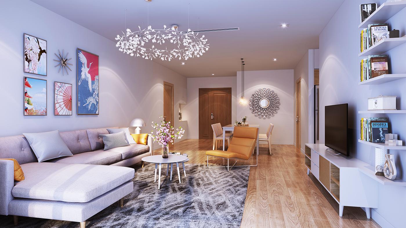 Mẫu thiết kế phòng khách Hinode City