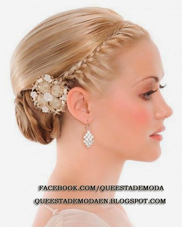 great peinado novia trenza fotos de peinados para novias actuales y elegantes aqu with peinados de novia actuales - Peinados Actuales