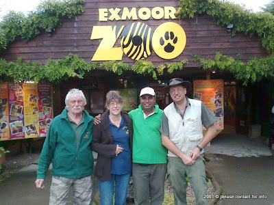 John, Lynn, Prasanjith and Danny at Exmoor Zoo