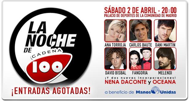La noche de Cadena 100 en el Palacio de los Deportes de la Comunidad de Madrid