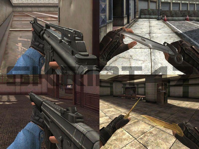 M4A1 Non Ex Mod, SG550 Non Ex Mod, M-7 Gold Dual, M-9 Mod