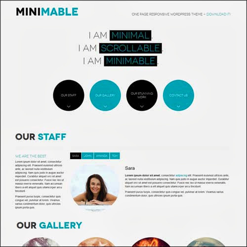 theme wordpress minimable