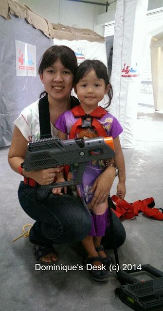 Tiger girl and me at Laser Tag