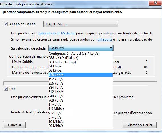 Configurar uTorrent para que vaya mas rapido