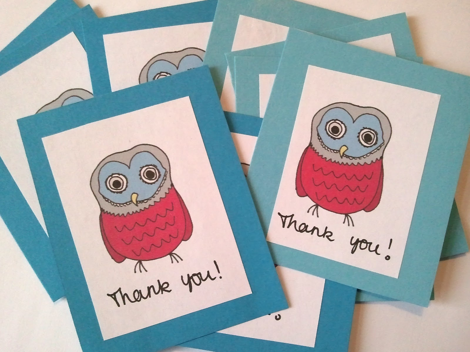 Ideas For Making Thank You Cards Part - 42: DIY: Thank You Cards.