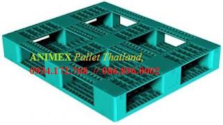 Pallet nhựa lưu kho nhập khẩu