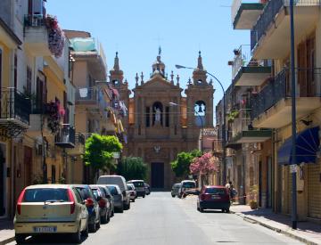 Sizilien - Die Via Ungheria in Santa Flavia.
