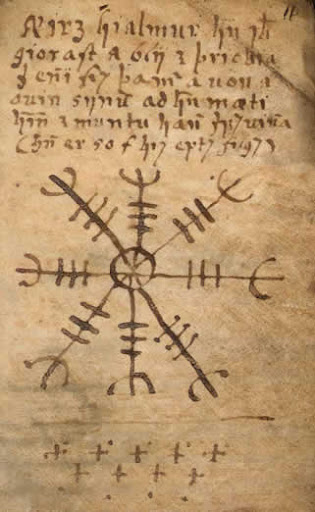 Ancient Occult Symbols The Aegishjalmur Image