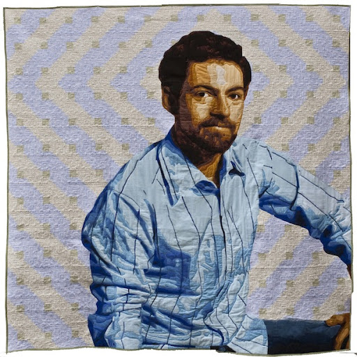 luke haynes quilt art bellevue art museum self portrait