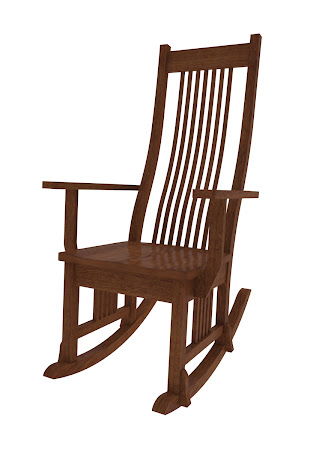 Vail Rocking Chair in Espresso Maple