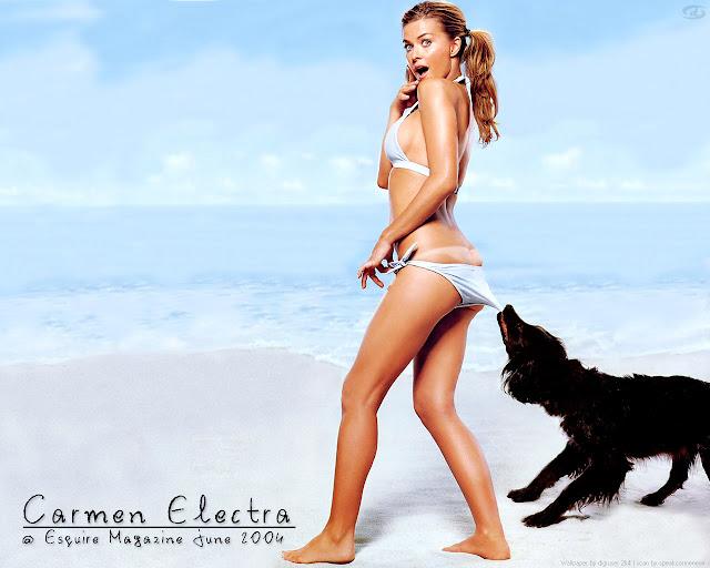 Carmen Electra Sexy Bikini Wallpaper