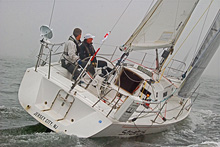 J/105 0ffshore sailboat- sailing double-handed