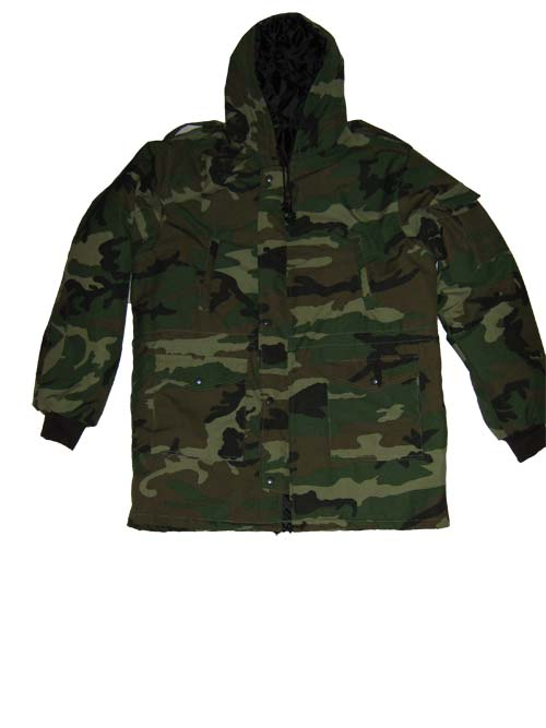 Military jackets woodland patterns