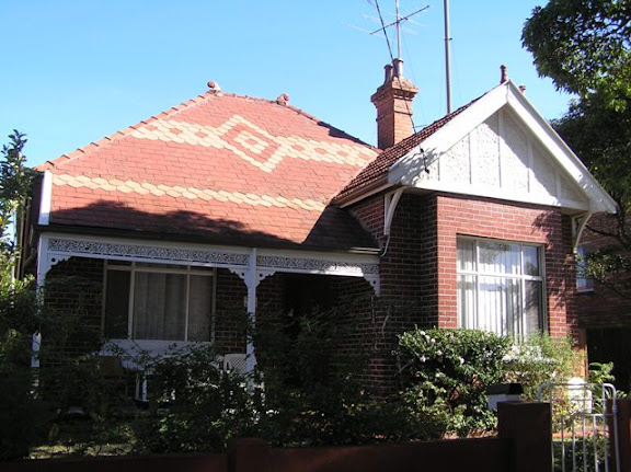 12 Dunmore Street North, Bexley with unique patterned slate roof