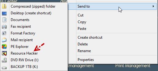 เพิ่ม Icon ShortCut ให้กับเมนู Send to บนวินโดวส์ 8 ง่ายๆสไตล์นาย C-GRu Send2w8-05