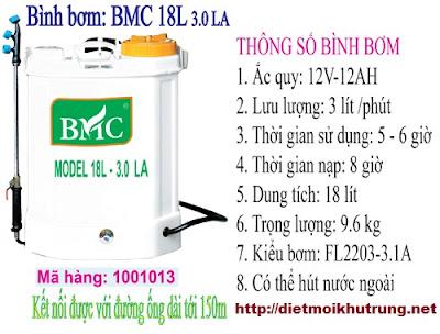Bình phun thuốc diệt côn trùng BMC 3.0