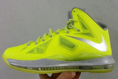 nike lebron 10 gr atomic volt dunkman 4 01 Upcoming Nike LeBron X   Volt Dunkman   New Photos
