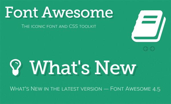 Font Awesome 4.5 Dirilis Dengan 20 Ikon Baru