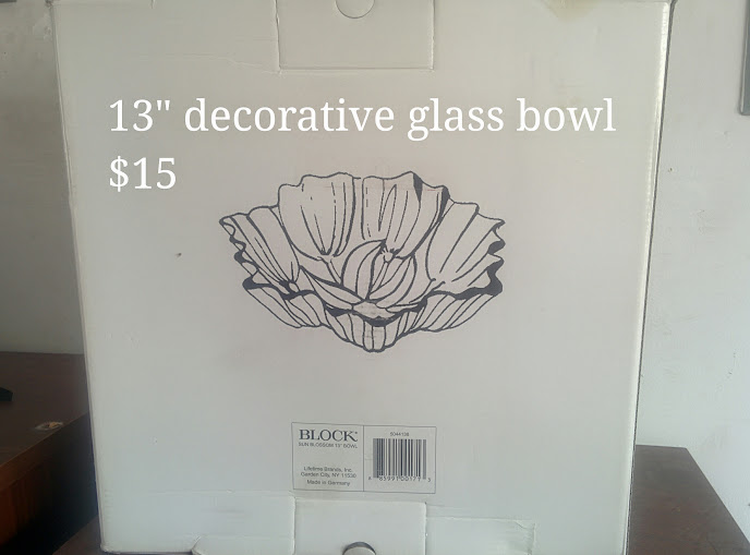 Decorative Floral Glass Bowl