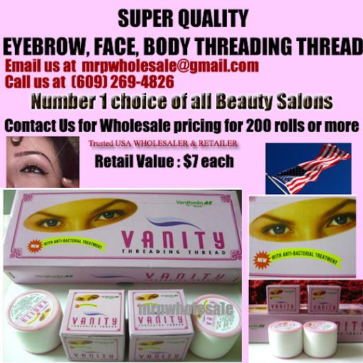 Vanity Eyebrow, face, body threading thread