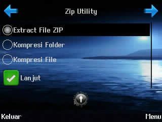 cara extract dan pack file, zip untility
